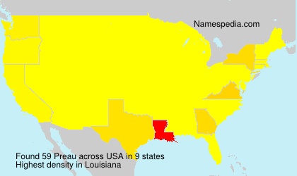 Surname Preau in USA