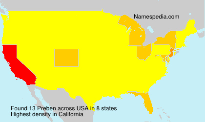 Surname Preben in USA