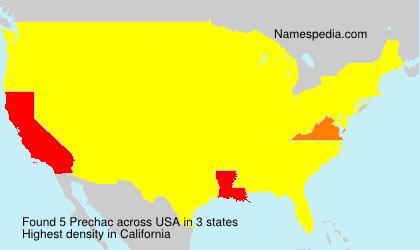 Surname Prechac in USA