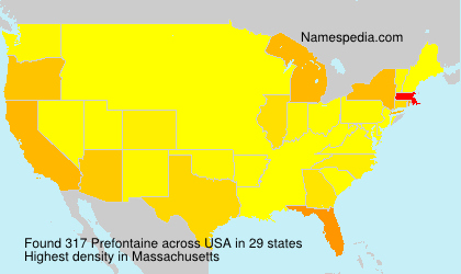 Surname Prefontaine in USA