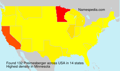Surname Preimesberger in USA