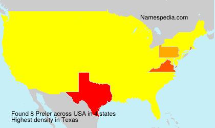 Surname Preler in USA