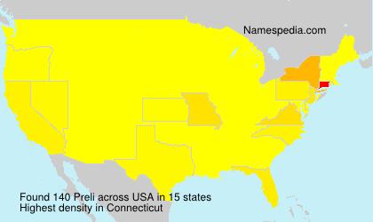 Surname Preli in USA