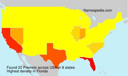 Surname Premetz in USA