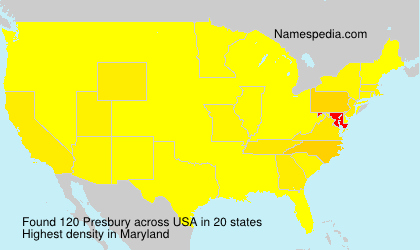 Surname Presbury in USA