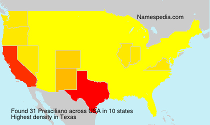Surname Presciliano in USA
