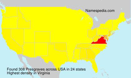 Familiennamen Presgraves - USA