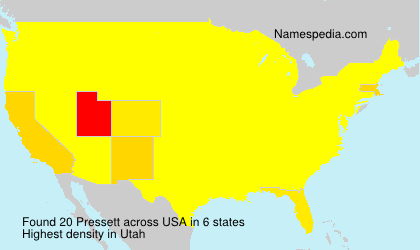 Surname Pressett in USA