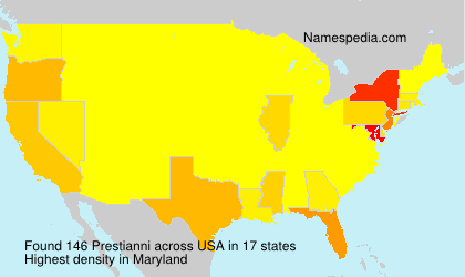 Surname Prestianni in USA