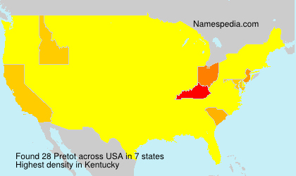 Surname Pretot in USA