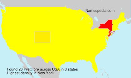 Familiennamen Prettitore - USA