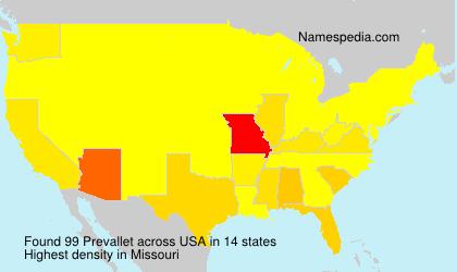 Surname Prevallet in USA