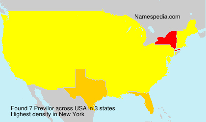 Surname Previlor in USA