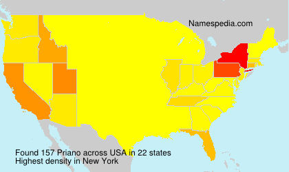 Surname Priano in USA