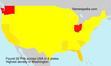 Surname Prib in USA