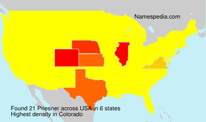 Surname Priesner in USA