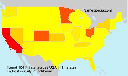 Surname Prijatel in USA