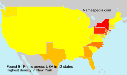 Surname Primis in USA