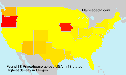 Surname Princehouse in USA