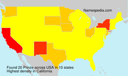 Familiennamen Prinze - USA