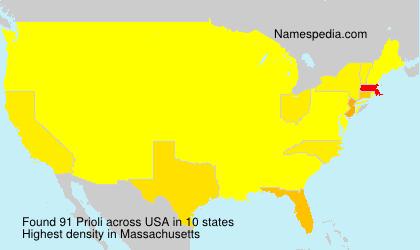 Familiennamen Prioli - USA