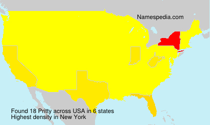 Surname Pritty in USA