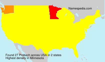 Familiennamen Probach - USA