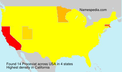 Surname Proceviat in USA