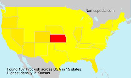 Familiennamen Prockish - USA