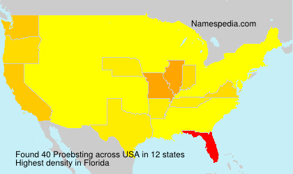 Surname Proebsting in USA