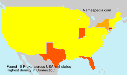 Surname Prokai in USA