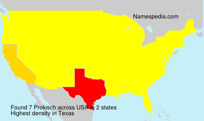 Surname Prokisch in USA