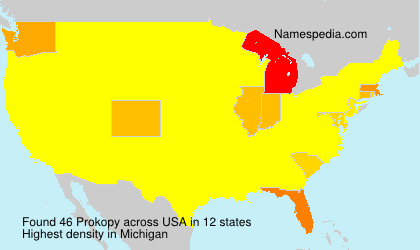Surname Prokopy in USA