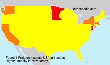 Surname Prokoshin in USA