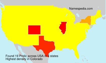 Familiennamen Prolic - USA