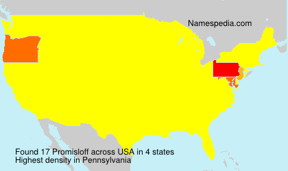Surname Promisloff in USA