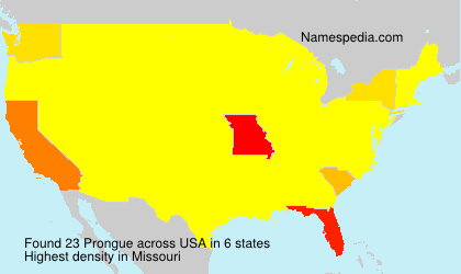 Surname Prongue in USA