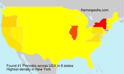 Surname Pronobis in USA