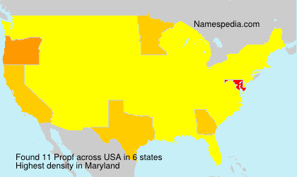 Surname Propf in USA