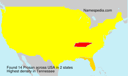 Surname Prosan in USA