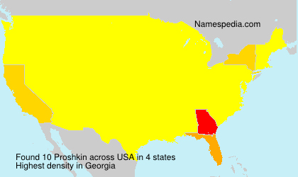 Surname Proshkin in USA
