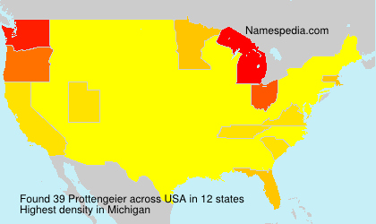 Surname Prottengeier in USA