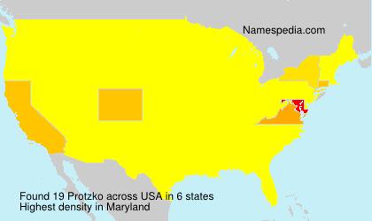 Surname Protzko in USA