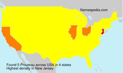 Familiennamen Prouteau - USA