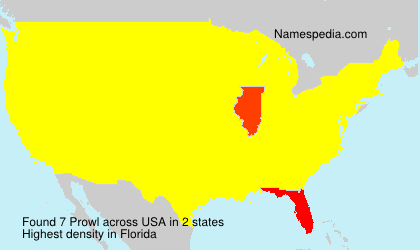 Surname Prowl in USA