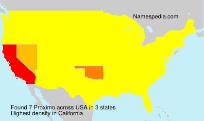 Familiennamen Proximo - USA