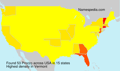 Surname Prozzo in USA