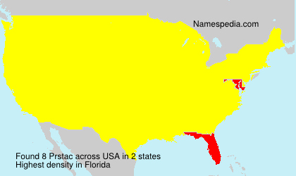 Surname Prstac in USA