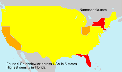Surname Pruchniewicz in USA