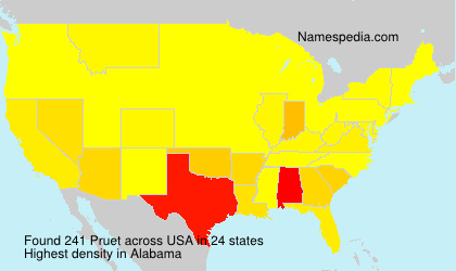 Surname Pruet in USA